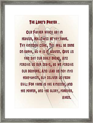 The Lord's Prayer Framed Print by Eloise Schneider