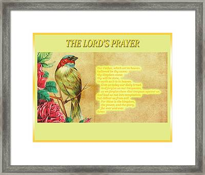 The Lord's Prayer Framed Print by John Parker