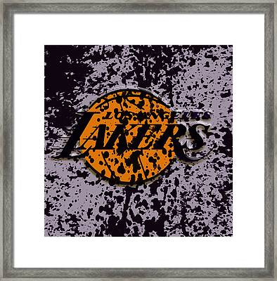 The Los Angeles Lakers B2a Framed Print
