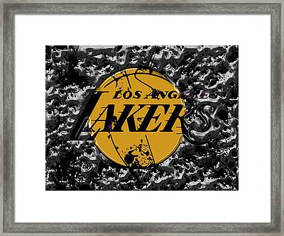 The Los Angeles Lakers B4a Framed Print