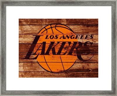 The Los Angeles Lakers W6 Framed Print by Brian Reaves