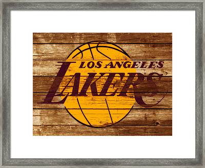 The Los Angeles Lakers W7 Framed Print by Brian Reaves