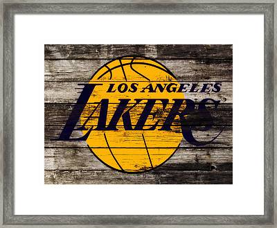 The Los Angeles Lakers W8 Framed Print by Brian Reaves