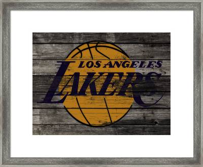 The Los Angeles Lakers W9 Framed Print by Brian Reaves
