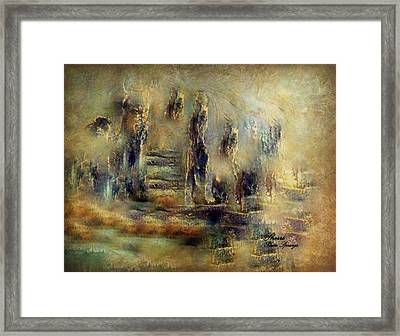 Framed Print featuring the painting The Lost City By Sherriofpalmsprings by Sherri  Of Palm Springs