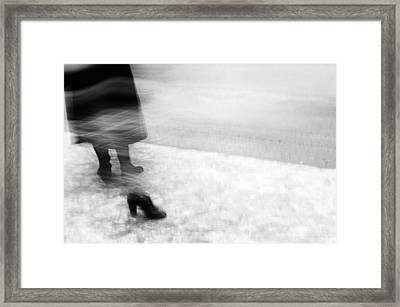 The Lost Foot Framed Print