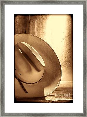 The Lost Hat Framed Print