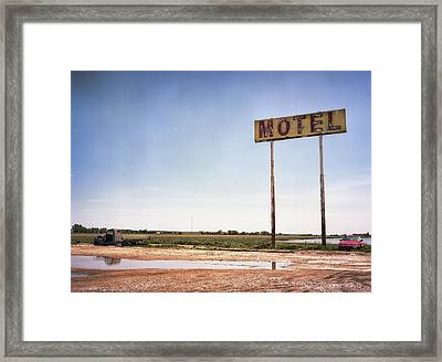 The Lost Motel Framed Print by HW Kateley