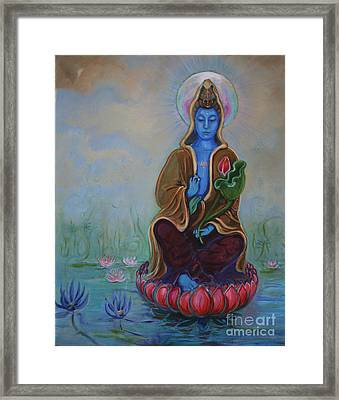 The Lotus Seed Framed Print by Catherine Moore