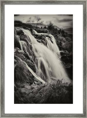 Framed Print featuring the photograph The Loup Of Fintry In Black And White by Jeremy Lavender Photography