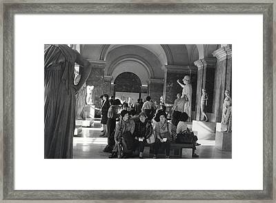 The Louvre Framed Print by Andrea Simon