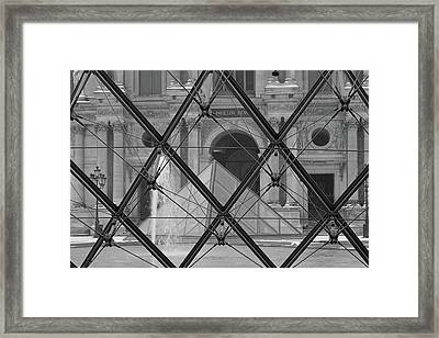 The Louvre From The Inside Framed Print