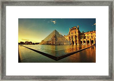 The Louvre Museum Framed Print