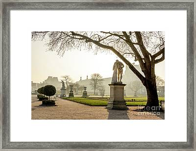 The Louvre Seen From The Garden Of The Tuileries. Paris. France. Europe. Framed Print