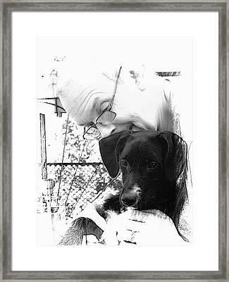 The Love Between Man And Dog Framed Print