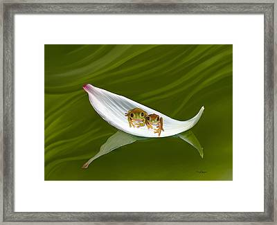 The Love Boat Framed Print by Thanh Thuy Nguyen