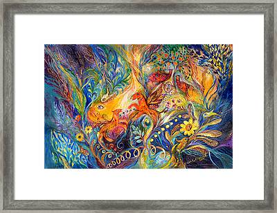 The Love Dance Framed Print by Elena Kotliarker