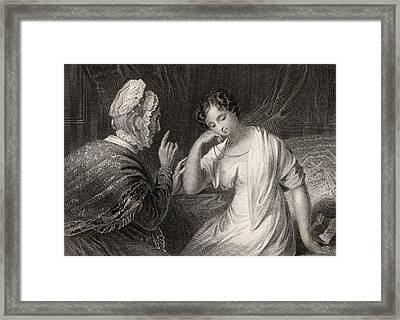 The Love Letter Engraved By Charles Framed Print by Vintage Design Pics