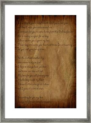 The Love Letter Framed Print by Evelyn Patrick