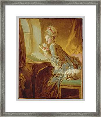 The Love Letter Framed Print by Jean