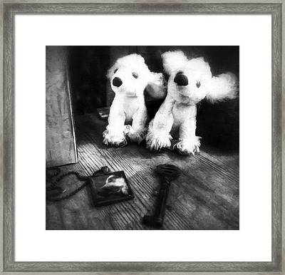 The Love Of A Dog Framed Print
