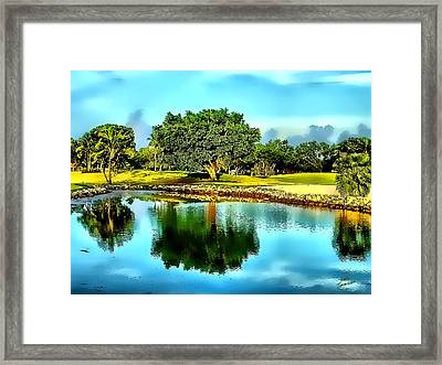 Framed Print featuring the photograph The Love Of Golf by Kathy Tarochione