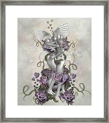 The Love Of The Two Souls Framed Print by Ali Oppy