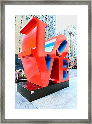 The Love Sculpture Framed Print by Paul Ward