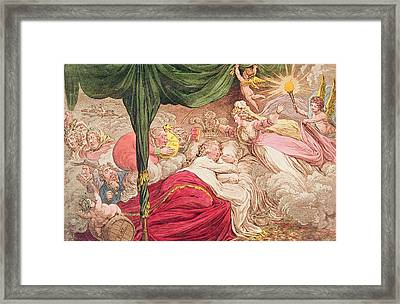 The Lovers Dream Framed Print by James Gillray