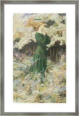 The Lover's World Framed Print by Eleanor Fortescue-Brickdale