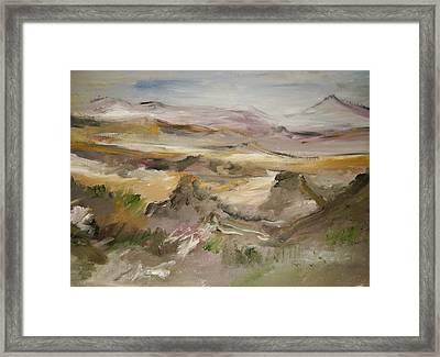 The Lower Mountain Range Framed Print by Edward Wolverton