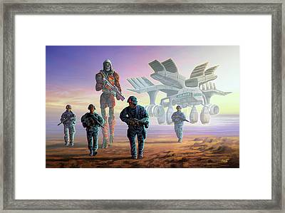 The Loyalists Framed Print by Anthony Mwangi