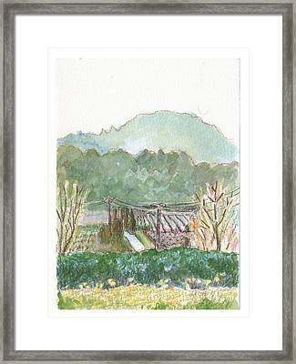 The Luberon Valley Framed Print