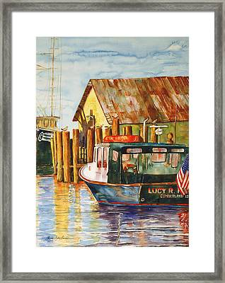 The Lucy R. Framed Print by Shirley Sykes Bracken