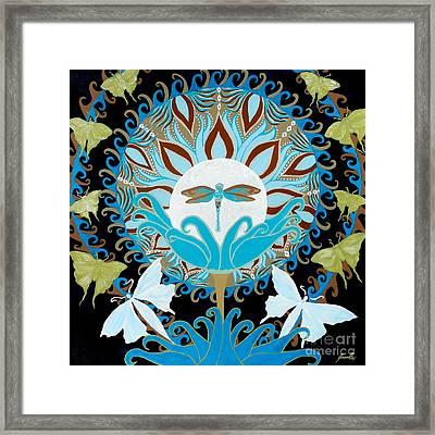 The Luna Moth Journey Of Faith And Love Framed Print