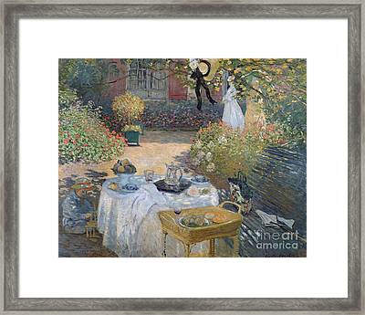 The Luncheon Framed Print by Claude Monet