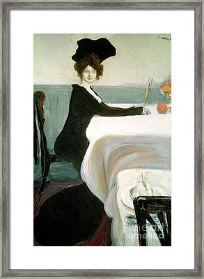 The Luncheon Framed Print by Leon Bakst