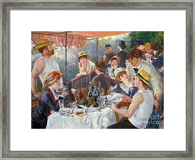 The Luncheon Of The Boating Party Framed Print by Pierre Auguste Renoir