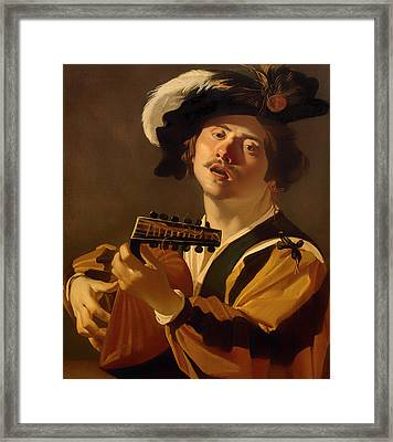 The Lute Player Framed Print by Mountain Dreams