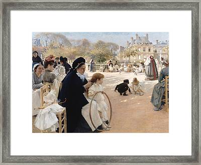 The Luxembourg Gardens, Paris Framed Print by Albert Edelfelt
