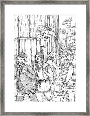 The Lynch Mob Framed Print