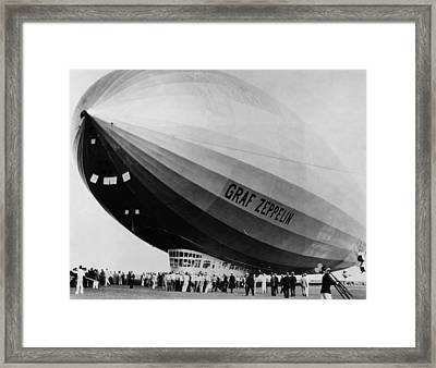 The Lz 129 Graf Zeppelin, Making Framed Print