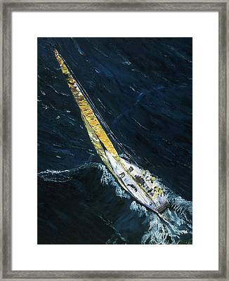 The Mac. Chicago To Mackinac Sailboat Race. Framed Print by Gregory Allen Page