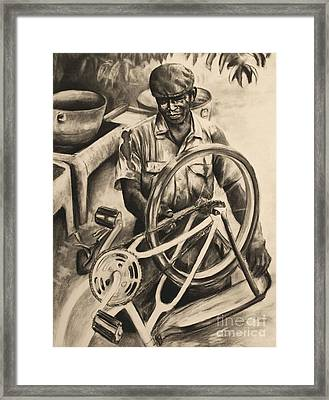 The Machanic Framed Print by Curtis James