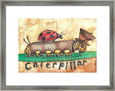 The Mad Caterpillar Framed Print by Sheri Athwal