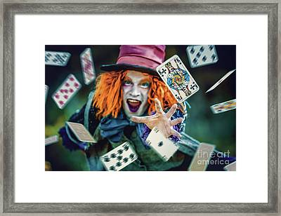 Framed Print featuring the photograph The Mad Hatter Alice In Wonderland by Dimitar Hristov