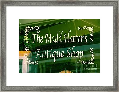 The Mad Hatter Antique Shop  Framed Print by JW Hanley