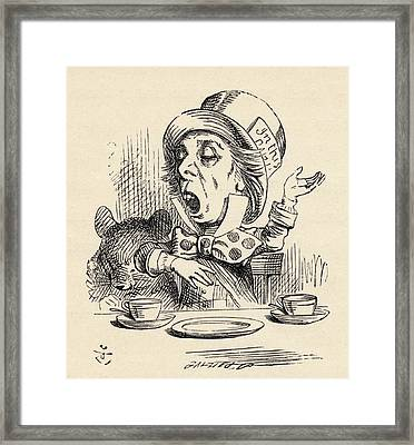 The Mad Hatter Reciting His Nonsense Framed Print
