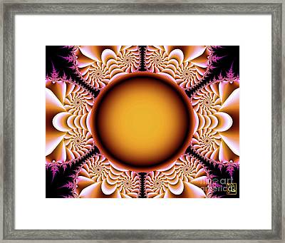 The Mad Hatter Spiral Staircases Fractal Swirls Framed Print