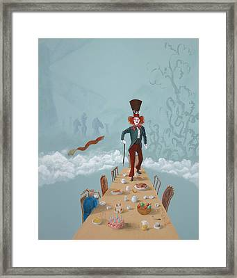 The Mad Hatter Tea Party Framed Print by Joe Odonovan
